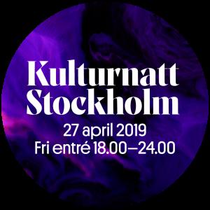 Kulturnatt Stockholm sticker
